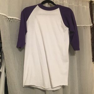 Purple Quarter Sleeve Baseball T-shirt